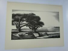 Quiet Day Stow Wengenroth Vintage Print Lithograph 30169