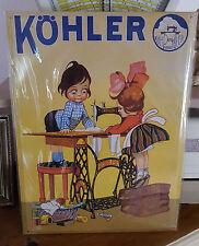 Plaque «kohler 2 enfants machine a coudre»30*40 cm