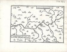 Antico mappe, gouvernement DE TORINO