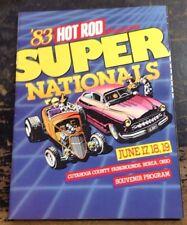 1983 Super Nationals Souvenir Program Hot Rod Magazine - Cuyahoga Co Fairgrounds