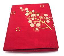 "Rectangular Red Festival Christmas Tablecloth 52"" x 70 (132cm x 178cm)"