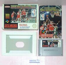 JEU CONSOLE SUPER NINTENDO NES SNES TECMO SUPER NBA BASKETBALL FAH TESTE OK