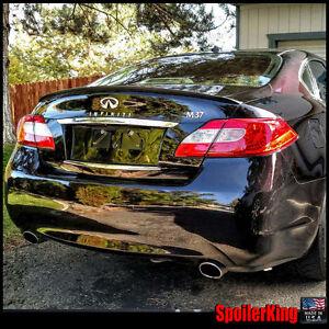 Rear trunk lip spoiler Fits: Infiniti M36 / M56 2011-13 SpoilerKing (244L)