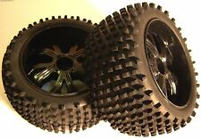 BS937-002 1/10 Scale RC Buggy GP EP Off Road Wheels and Tyres REAR 2 Black
