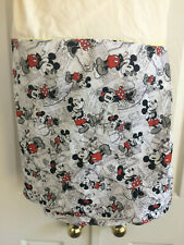 New ListingDisney Twin Bed Skirt Dust Ruffle Fitted Mickey Minnie Mouse Black Red Handmade