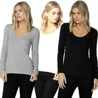 Long Sleeve Top BETTY BASICS Plus Sizes 10 12 14 16 18 Madonna Scoop Neck Tee