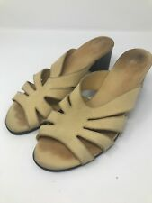 Arche Yellow Suede Slide Sandals Size 40 US 8.5