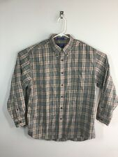 Pendleton Canterbury Wool Cotton Blend Shirt Large Plaid Check Multi