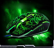 Pro Gamer Colorful Backlight 4000DPI USB Wired Mouse Optical Gaming Mouse Mice