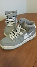 NIKE AIR FORCE ONE 1 AF1 HIGH TOP COOL WOLF GREY WHITE   MENS 10