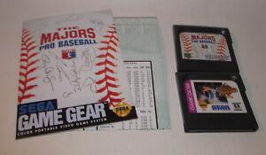 The Majors & World Series Baseball '95 (Sega Game Gear, 1992) Games w/ Manual