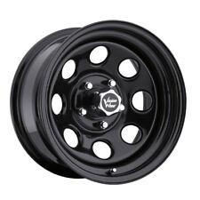 "4-15"" Inch Vision 85 Soft 8 15x7 5x114.3(5x4.5"") -6mm Gloss Black Wheels Rims"