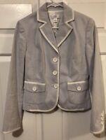 Ann Taylor Loft Womens Suit Jacket Vertical Stripes Size 4