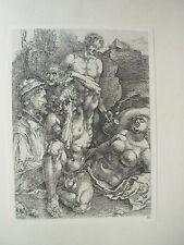 Albrecht DURER VINTAGE incisione su rame l'uomo disperato