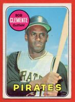 1969 Topps #50 Roberto Clemente VG+ CREASE HOF Pittsburgh Pirates FREE SHIPPING