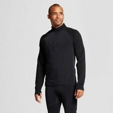 Men's C9 Champion Running Cold Weather Quarter Zip in Black Large Brand Nwt