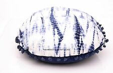 Indian Tie & Dye Cotton Abstract Cushion Cover Round Home Decor Pillow Case Boho
