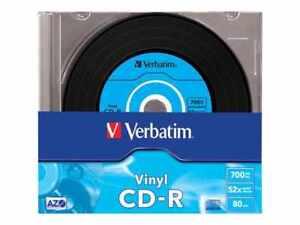 10 Genuine Verbatim vinyl CD-R 52x 700MB 80mins Blank CD Discs in Slimcase 43426