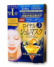 Face Mask KOSE Clear Turn premium Royal jelly mask collagen 4 Sheets F/S