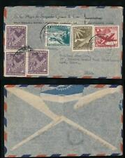 CHILE to INDIA 1956 AIRMAIL POSTMARKS + AIR MULTI FRANKINGS to $2