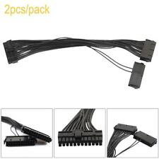 2pcs 30cm Dual PSU Power Supply 24 Pin ATX Motherboard Adapter Connector Cable
