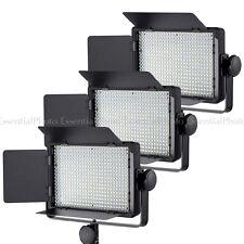 3x panel LED de luces de video LECO 500 Regulable entrevista de control remoto