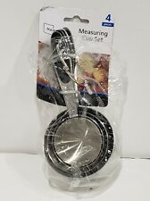 4-Piece Stainless-Steel Measuring Cup Set mainstays