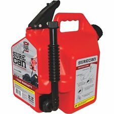 SureCan 2.2 Gallon RED Plastic Gasoline Fuel Can