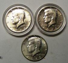 1965 1966 SMS Kennedy Half Dollars + 1968 D Kennedy Half Dollar