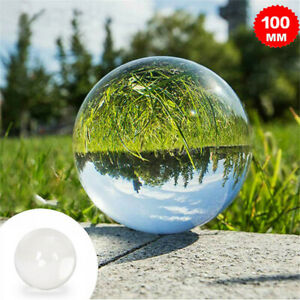100mm Clear Crystal Ball Photography Glass Lens Sphere Ball Photo Decorate New