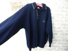 vintage mans jumper wool blend retro preppy CARLO COLUCCI textured XL PB392