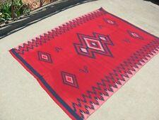 c1900 Antique Chimayo Ortega Rug Blanket Native American Indian Not Navajo .99c!