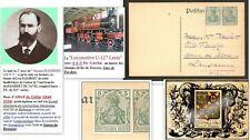 Carte 1902 à RAMBERT femme DE GLEHN A. (1848-1936) développeur vapeur locomotive