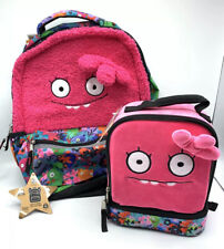 "Ugly Dolls ""Halfway Gorgeous"" Pink School Backpack & Lunch Bag NEW with TAGS"