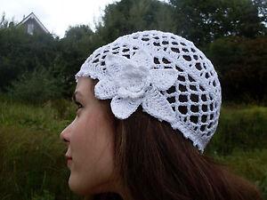 """Häkelmütze """"Claire"""", Vintagestyle, Baumwolle, handmade"""