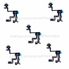 5x Replacement Proximity Light Sensor Power Button Flex Cable for IPhone 4s b169