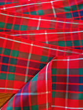 """Fraser Tartan Multi-colored Plaid Ribbon Extra Wide  2 3/4""""  - By the Yard"""