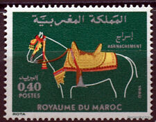 Yt 858 MAROC timbre  Neuf ** TTB Harnachements de chevaux