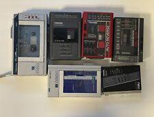 Vintage Toshiba Walkman Lot Kt-r2 s1 Non Tested 1980's Japan