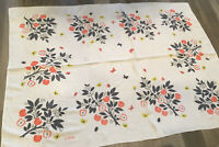 Vintage Rectangle Tablecloth, Ivan Bartlett, Leaves, Apples, Butterflies, Flower