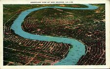 New Orleans, La Aeroplane View Postcard posted 1935
