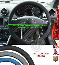 UNIVERSAL BLACK STEERING WHEEL COVER FAUX LEATHER 37 TO 39CM–Mazda