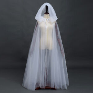 Halloween Cloak Cape With Hooded Bride Witch Cosplay Cloak Costume