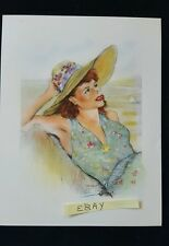 Listed French Artist Edouard Chimot (1890-1930) Romantic Color Print HS