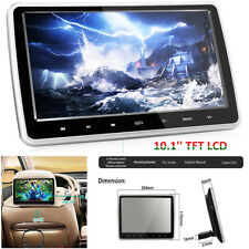 10'' Tablet-Style TFT LCD Screen Car SUV Headrest DVD Player +Wireless Headphone