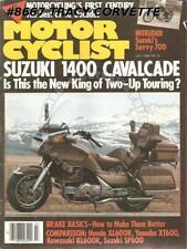 July 1985 Motorcyclist Motorcyling's 1st Century Suzuki Kawasaki KLR600