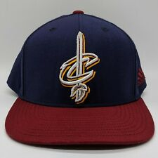 ADIDAS Cleveland Cavaliers NBA Embroidered Logo Hat Snapback Cap Blue Red