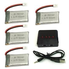 Charger+4pcs 3.7V 550mAh Lipo Battery Pack For RC Syma X5SW X5 X5C RC Quadcopter