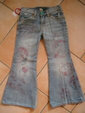 (122) de doux NOLITA POCKET Girls patte d'eph Used Look Jeans pantalon avec pression gr.164