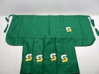 New - Lot of 5 - Subway Sandwiches Employee Waist Short Apron Green Worker